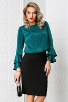 bluze-dama-ieftine-online-1 Bell Sleeves, Bell Sleeve Top, Lace Skirt, Skirts, Tops, Women, Fashion, Moda, Skirt