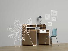 Desk by Kasia Borzecka #design #furniture #mobilier #desk #3d #bureau #workspace