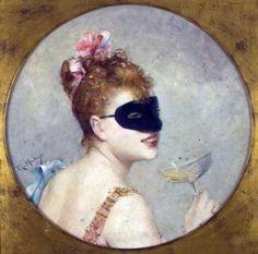 Aline Masson era la modelo y amante favorita del pintor Raimundo de Madrazo cuando a finales del siglo XIX la retrató bebiendo una copa de champán