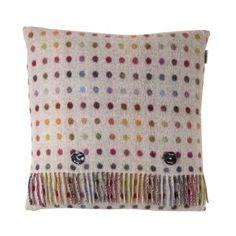 Guston Multi Spot Cushion in Beige and Multi Colour