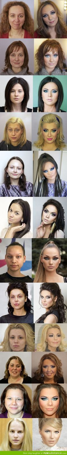 Power of Russian Makeup: Before and After