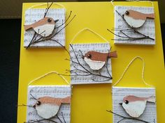 Vögel im Winter - # birds Kindergarten Art, Preschool Art, Spring Art, Spring Crafts, Decoration Creche, Arte Elemental, Classe D'art, Paper Art, Paper Crafts