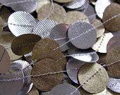 Gold Silver String of Circles Paper Garland Holiday. $20.00, via Etsy.