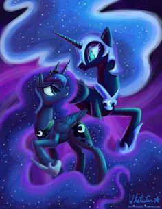 Nightmare Moon and Princess Luna My Little Pony Drawing, Mlp My Little Pony, My Little Pony Friendship, Celestia And Luna, Princess Celestia, Unicornios Wallpaper, My Little Pony Wallpaper, Snake Art, Nightmare Moon