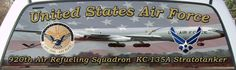 Un ited States Air Force 920th Air Refueling Squadron Truck Winidow Mural.