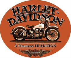 Celebrate the history of Harley-Davidson motorcycles with this lithographed and embossed metal sign.
