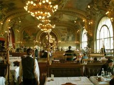 le procope has been around since the 1600s. it could be the oldest restaurant in paris and is a walk back in time