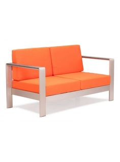 Zuo Modern 703652 Cosmopolitan Long Sofa Cushion Only Orange Outdoor Furniture Sofas Cushion Unique Furniture, Furniture Decor, Bedroom Furniture, Furniture Design, Outdoor Furniture, Wicker Furniture, Orange Furniture, Furniture Vanity, Primitive Furniture