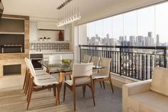The Most Inspiring Gourmet Balconies Decorated in Homes and Apartments - Jessedaro Interior Balcony, Balcony Design, Interior S, Interior Design, Central Table, Central Park, Modern Loft, Interior Inspiration, Living Spaces