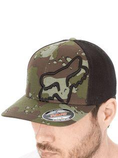 Fox Camo Up Sleeve Curved Peak Flexfit Cap