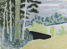 LAKESIDE TREES - Milton Avery