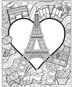 Eiffel Tower Coloring Page Tower Coloring Page Amazing Coloring Pages I Watch Eiffel Tower Paris Printable Coloring Pages Adult Coloring Book Pages, Cute Coloring Pages, Printable Coloring Pages, Free Coloring, Coloring Pages For Kids, Coloring Sheets, Coloring Books, Paris Crafts, Geography