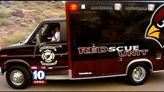 Cardinals fans make old ambulance the perfect tailgating mobile - FOX 10 News - Phoenix, AZ | KSAZ-TV