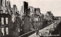 Saint-Malo Intra-Muros détruit en 1944