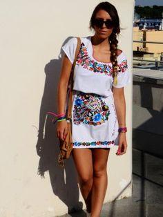 unmatchafrappeporfavor Outfit  mexican dress  Verano 2012. Cómo vestirse y combinar según unmatchafrappeporfavor el 11-8-2012