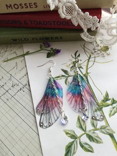 Rather pretty Small  butterfly pink and purple Faerie