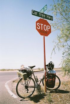keep calm and ride a bike--read the street sign :-).