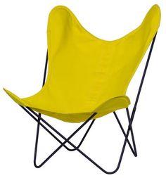 AA Butterfly Sessel Stoffbezug / Gestell schwarz – AA-New Design