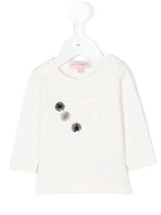 Lili Gaufrette top with heart and tulle design