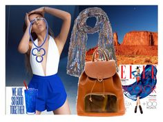 """""""Shop bicolour orange and royal blue"""" by wwwcarouzoucom on Polyvore featuring Jaipur"""