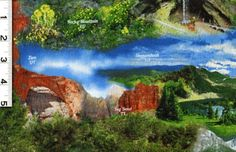 """Our National Parks by Quilting Treasures - 100% Cotton. 44"""" Wide."""