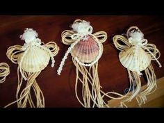 Arts and Crafts Tutorial: How to Make SeaShell Fairy Christmas Tree Decorations - YouTube