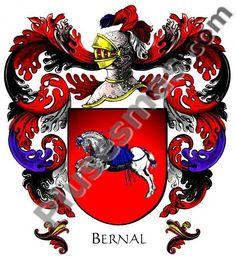 Escudo del Apellido Bernal (cresta Con)