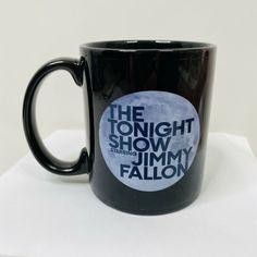 Official The Tonight Show Starring Jimmy Fallon Ceramic Mug Black 11oz 2014 NBC