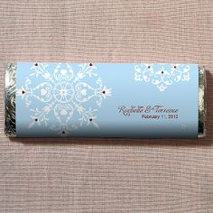 Winter Romance Chocolate Bar BULK DISCOUNT  Everything But The Wedding Dress, www.EverythingButTheWeddingDress.com