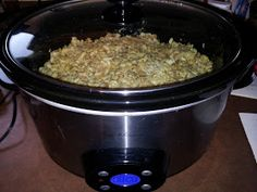 Crockpot pork chops and stuffing