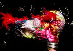 Exploding Lightbulbs: High-Speed Photos by Jon Smith American photographer Jon Smith fills lightbulbs with colorful objects and liquids before causing them to explode and using high-speed photography to capture them as they burst into pieces. Bulb Photography, High Speed Photography, Background For Photography, Creative Photography, Amazing Photography, Motion Photography, Makeup Photography, Photography Ideas, Grid Design