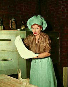 """To help out a friend visiting from Italy, Lucy takes a job in a pizzeria, but not for long in a funny episode of """"I Love Lucy""""."""