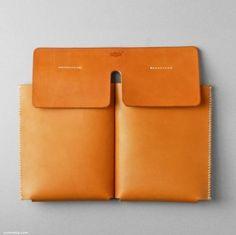 Kumosha / leather tote pockets