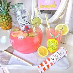 Pink lemonade + Bacardi in an entire fishbowl is honestly my goal in life. Drinks Recipes Pink lemonade + Bacardi in an entire fishbowl is honestly my goal in life. Drinks With Bacardi Rum, Bacardi Cocktail, Rum And Lemonade, Pink Lemonade Recipes, Fancy Drinks, Pink Drinks, Pink Alcoholic Drinks, Beverages
