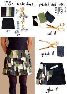 P.S.- I made this...Paneled Skirt #PSIMADETHIS #DIY #WHOWHATWEAR