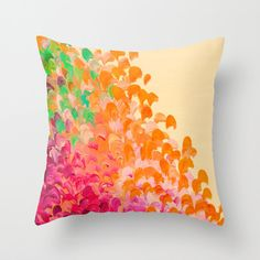 CREATION IN COLOR Autumn Infusion  Decorative Throw by EbiEmporium