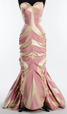 Elsa Schiaparelli - Robe de Soirée Bustier 'Fourreau' - Soie - 1948