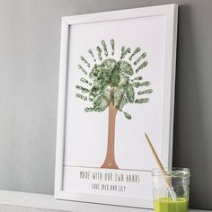 personalised hand print tree poster by love those prints | notonthehighstreet.com