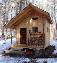 All I Need is a Little Cabin in the Woods Photos) - woods rustic cabin rustic outdoors nature mountain log cabin house home cabin in the woods cabin Tiny Cabins, Tiny House Cabin, Cabins And Cottages, Tiny House Living, Tiny House Design, Cabin Design, Life Design, Log Cabins, Little Cabin