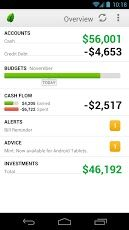 Mint.com for Android | Dashboard
