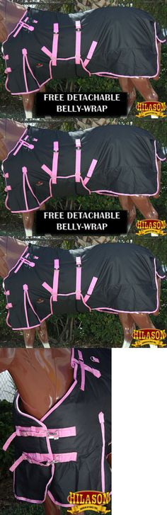 Horse Blankets and Sheets 85275: 74 Hilason 1200D Waterproof Horse Winter Sheet Belly Wrap Black Pink -> BUY IT NOW ONLY: $53.95 on eBay!