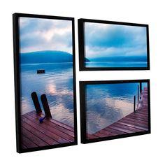 ArtWall Steve Ainsworth 'Interlude Filtered' 3 Piece Floater Framed Flag Set