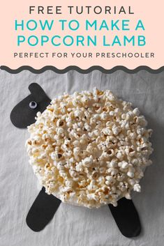Easter lamb craft for kids. Use a paper plate and popcorn Sheep Crafts, Farm Crafts, New Year's Crafts, Easter Crafts, Crafts For Kids, Glue Crafts, Easter Activities, Craft Activities, Seasons Activities