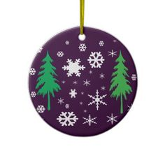 Trees & Snowflakes Holiday Ornament