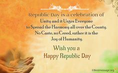 Happy Indian Republic Day 2016 - 67th Republic Day Picture for for Whatsapp, Facebook with Quotes