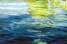 Under Tom's Pier - Amy Arntson - watercolor Watercolor Water, Watercolor Landscape, Watercolor Paintings, Water Abstract, Watercolors, Water Ripples, Lake Water, Water Reflections, Watercolour Tutorials