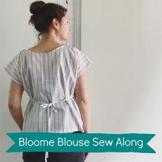 In deze online sew-along leer je hoe je de zero waste bloome blouse naait. Je tekent je eigen naaipatroon, naait de blouse in elkaar en werkt hem netjes af. Ook leer je hoe je het patroon aanpast en een t-shirt of jurkje kunt maken Sew Your Own Clothes, Jeans And Vans, Clothing Patterns, Wrap Dress, Sewing, Blouse, Zero Waste, Pdf, Tutorials