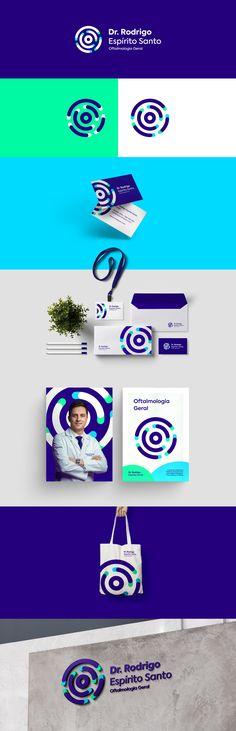 Dr. Rodrigo Espírito Santo é oftalmologista, especialista em Plástica Ocular. Desenvolvemos sua marca optando por cores que simbolizem a sensação de ajuste, o que cria uma ligação com o propósito de melhorar a visão e corrigir imperfeições. O conceito da marca busca transmitir a ideia de refinamento através de um símbolo circular que representa a forma de um olho. Brand Identity Design, Graphic Design Branding, Corporate Design, Letterhead Design, Stationery Design, Event Branding, Logo Branding, Web Design, Design Poster