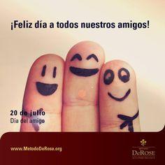 Calidad de vida es invertir el propio tiempo dando atención a los amigos y conocidos. Festejemos juntos la alegría de compartir ¡Feliz día del amigo!  #MetodoDeRose  #DiadelAmigo