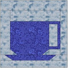 Frazer Valley Quilters Guild - has lots of free pieced quilt patterns Quilt Square Patterns, Mug Rug Patterns, Paper Piecing Patterns, Square Quilt, Quilting Tutorials, Quilting Projects, Sewing Projects, Quilting Ideas, Sewing Ideas
